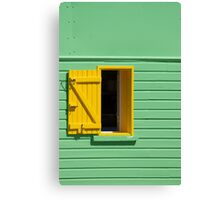 Green Wall, Yellow Window Canvas Print