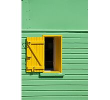 Green Wall, Yellow Window Photographic Print