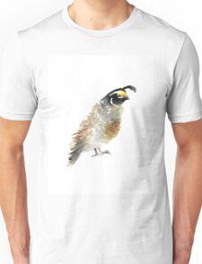 Quail bird watercolor painting Unisex T-Shirt
