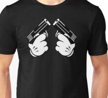 Cartoon Hand Guns Unisex T-Shirt