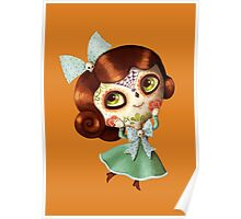 The Day of The Dead Vintage Doll Poster