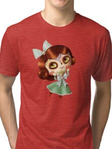 The Day of The Dead Vintage Doll Tri-blend T-Shirt