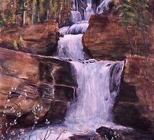 Waterfall Willows by Michael Beckett