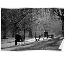 St James Park in black and white Poster