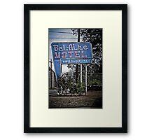 The BelAire Motel Framed Print
