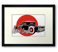 Ratrod Garage Framed Print