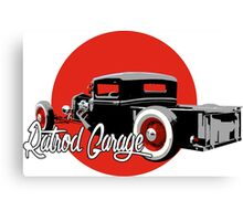 Ratrod Garage Canvas Print