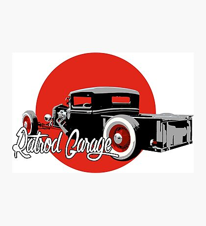 Ratrod Garage Photographic Print