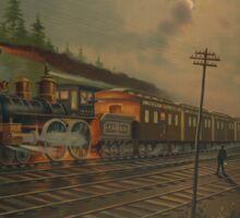 Night locomotive. Age of Steam #002 Sticker