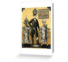 Mustapha's Espresso Robots Greeting Card