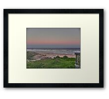 old bar beach afternoon Framed Print