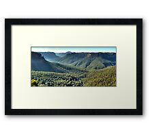 Glory -Govetts Leap - Blue Mountains (25 Shot HDR Panorama) -The HDR Experience Framed Print