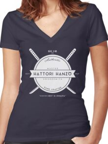 Hattori Hanzo, Master Swordsmith Women's Fitted V-Neck T-Shirt