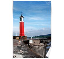 Watchet lighthouse in colour Poster