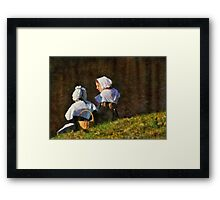People - The young maidens Framed Print