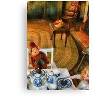 Toys - The tea party Canvas Print