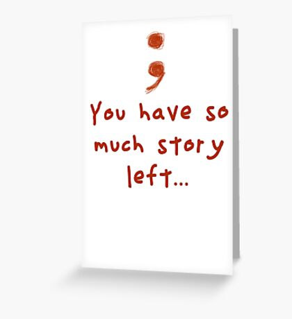 Semicolon Greeting Card