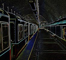 Neon Subway by Charles Dobbs Photography