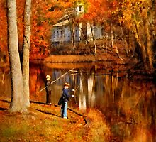Autumn - Gone Fishing by Mike  Savad