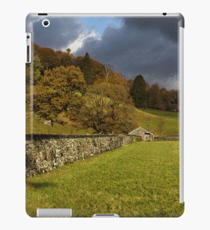 Dry Stone Wall and Barn Landscape iPad Case/Skin