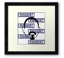Marcus President collage Framed Print