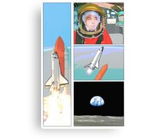 space comic Canvas Print
