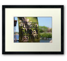 Epcot International Flower & Garden Festival  Framed Print