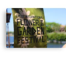 Epcot International Flower & Garden Festival  Canvas Print