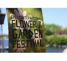 Epcot International Flower & Garden Festival  Photographic Print