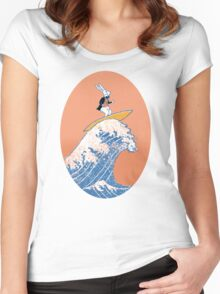 White Rabbit Surfing Women's Fitted Scoop T-Shirt