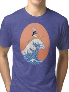 White Rabbit Surfing Tri-blend T-Shirt