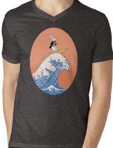 White Rabbit Surfing Mens V-Neck T-Shirt