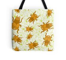 Beetles and the flowers  Tote Bag