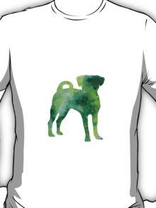 Green puggle giclee print T-Shirt