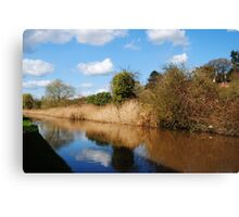 Worcester to Birmingham Canal Canvas Print