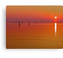 Lake Biwa, Japan: last light. Canvas Print