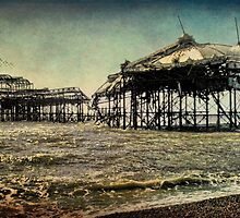 After the Fire, Brighton's Old West Pier by Chris Lord