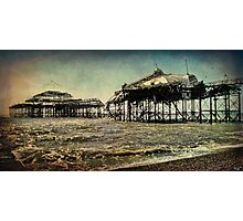 After the Fire, Brighton's Old West Pier Photographic Print