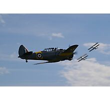 TIger Moths and unidentified aircraft Photographic Print