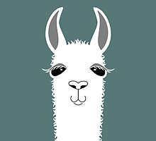 LLAMA PORTRAIT #7 by Jean Gregory  Evans