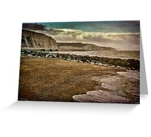The Beach and Cliffs at Rottingdean Greeting Card