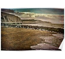 The Beach and Cliffs at Rottingdean Poster