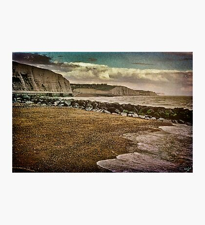 The Beach and Cliffs at Rottingdean Photographic Print