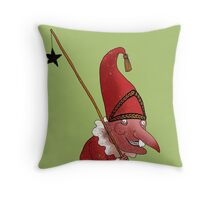 Mr. Punch and the Dark Star Throw Pillow