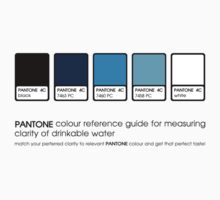 Pantone - clarity of drinkable water by Alexander Suen