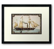 Steamship on Sea. Age of Steam #008 Framed Print