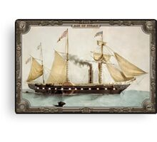 Steamship on Sea. Age of Steam #008 Canvas Print