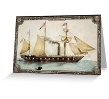 Steamship on Sea. Age of Steam #008 Greeting Card