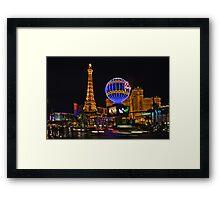 Eiffel Tower in LV Framed Print
