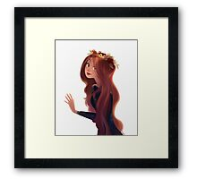 Red Hair and Roses Framed Print